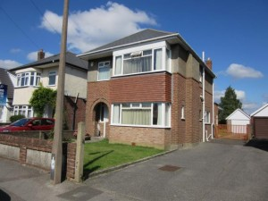 Detached three bedroom house with a large rear garden & garage